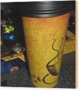 Coffee Cup Series. Yellow And Orange. Wood Print