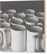 Coffee Cups- By Linda Woods Wood Print