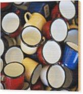 Coffee Cups Wood Print