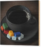 Coffee For Mister Mondrian  Wood Print