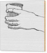 Coffee Hand Wood Print