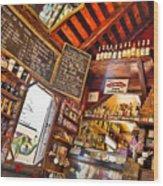 Coffee House Wood Print