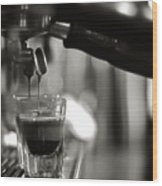 Coffee In Glass Wood Print