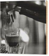 Coffee In Glass Wood Print by JRJ-Photo