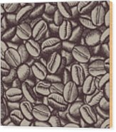 Coffee In Grain Wood Print