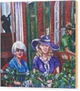 Coffee In Pirates' Alley Wood Print