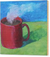 Coffee Landscape Wood Print