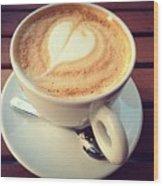 Coffee Lover Wood Print