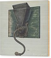 Coffee Mill Wood Print