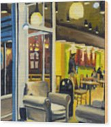 Coffee On 5th Ave Wood Print