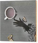 Coffee On Black Top Pond No. 5 Wood Print