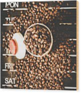 Coffee On The Menu Wood Print