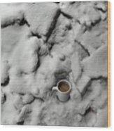 Coffee On The Rocks Wood Print