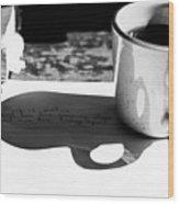 Coffee Poetry Wood Print