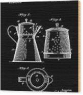 Coffee Pot Patent 1916 Black Wood Print