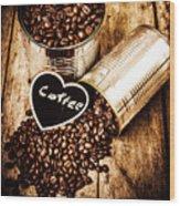 Coffee Shop Love Wood Print