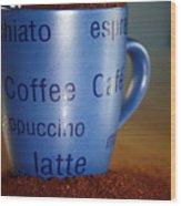 Coffee Straight Up  Wood Print