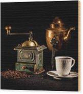 Coffee-time Wood Print