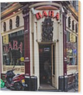 Coffeeshop In Amsterdam Wood Print
