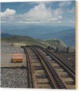 Cog Railway Stop Wood Print