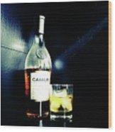 Cognac Camus Wood Print
