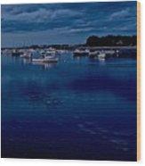 Cohasset Harbor At Dusk Wood Print