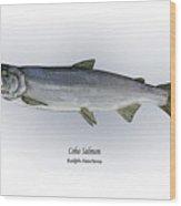 Coho Salmon Wood Print