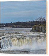 Cohoes Falls New York Wood Print