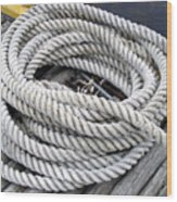 Coiled Rope  Wood Print