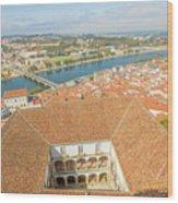 Coimbra Aerial View Wood Print