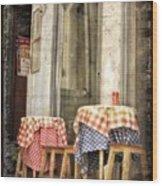 Coimbra Cafe Wood Print