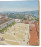 Coimbra University Aerial Wood Print