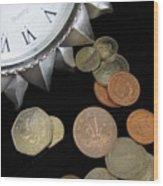 Coins Wood Print by Lindie Racz