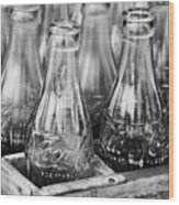 Coke Bottles-bw Wood Print