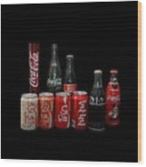 Coke From Around The World Wood Print