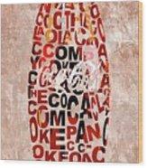 Coke Typography Wood Print
