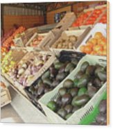 Colchagua Valley Outdoor Market Wood Print