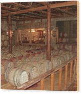 Colchagua Valley Wine Barrels Wood Print