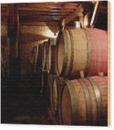 Colchagua Valley Wine Barrels II Wood Print
