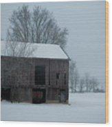 Cold Barn Wood Print