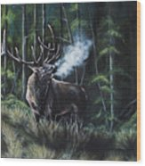 Cold Call Wood Print