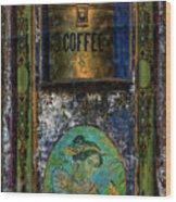 Cold Coffee Wood Print