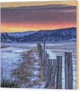 Cold Country Sunrise Wood Print