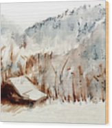 Cold Cove Wood Print