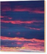 Cold Front Sunset One Wood Print