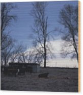 Cold Iowa Evening Wood Print