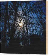 Cold Moon Wood Print