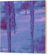 Cold Night Falling Wood Print