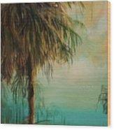 Cold Palm Marsh Wood Print