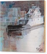 Cold River Wood Print